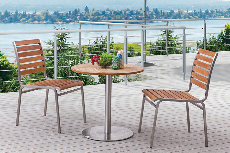 Stainless steel outdoor bar set