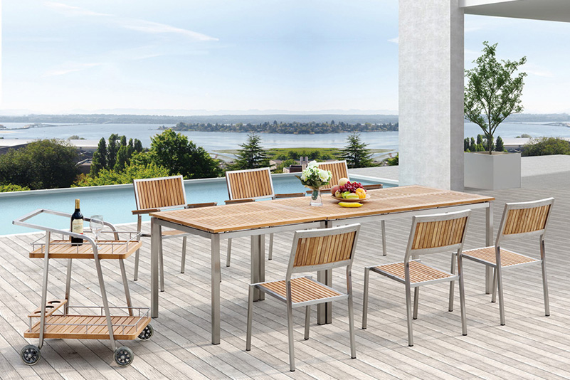 Stainless steel KD outdoor furniture