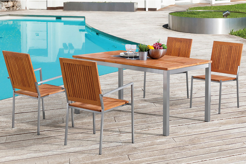 Patio outdoor furniture, garden furniture, dining table set