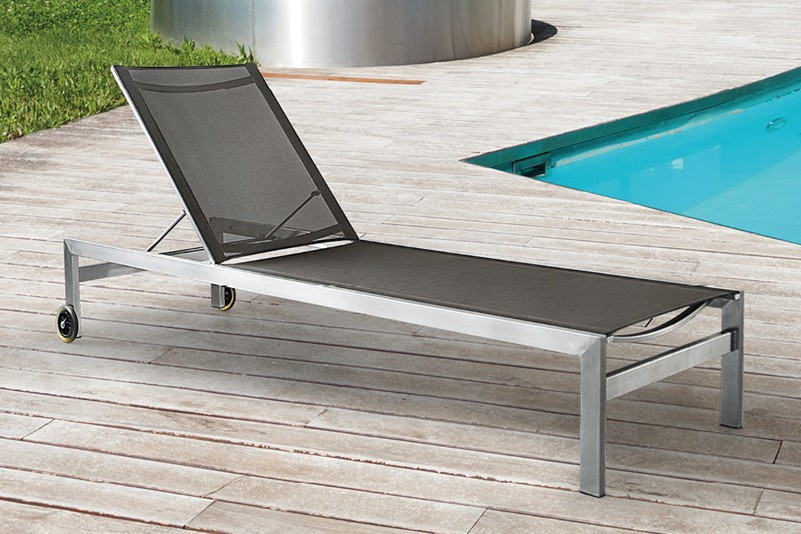 Outdoor stainless steel  fabric lounge