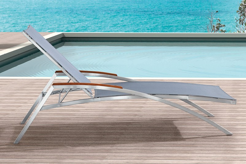 Fabric and stainless steel outdoor furniture