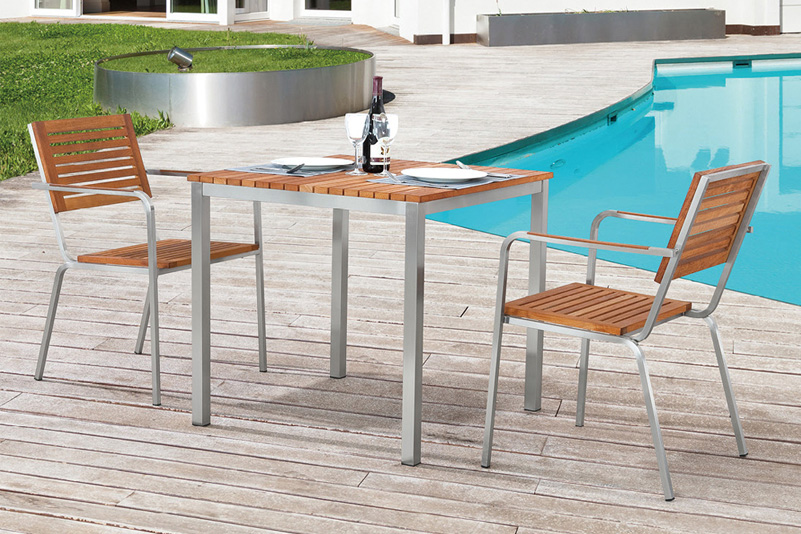 Bar chair and table garden furniture set
