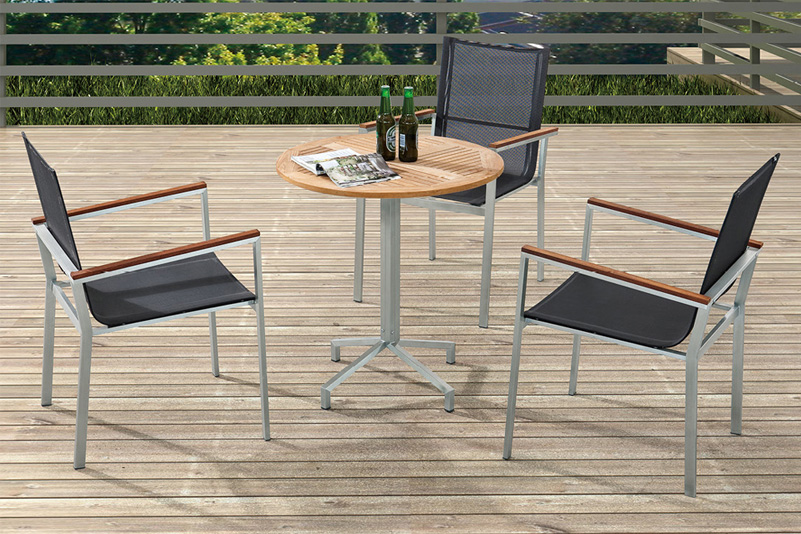 Table chairs set leisure ways outdoor patio furniture 4pcs bistro set